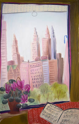 Window On Central Park South Art Print by Tatjana Krizmanic