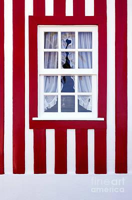 Window On Stripes Art Print by Carlos Caetano
