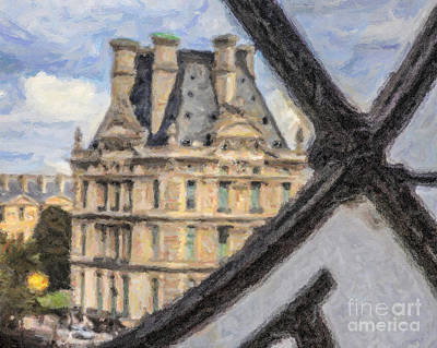 Digital Art - Window On The Louvre by Liz Leyden