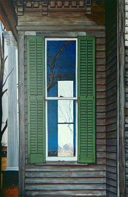 Window On The Past Art Print by Peter Muzyka