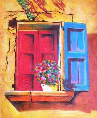 Window On The Rue In Roussillon France Art Print by Susi Franco