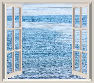 Window On The Sea Art Print by John Vito Figorito