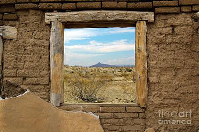 Western Themed Photograph - Window Onto Big Bend Desert Southwest Landscape by Shawn O'Brien