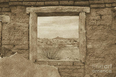 Photograph - Window Onto Big Bend Desert Southwest Landscape Vintage Digital Art by Shawn O'Brien