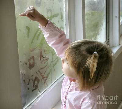 Photograph - Window Painting 2 by Tom Brickhouse