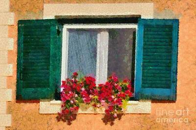 Painting - Window In Corfu City by George Atsametakis