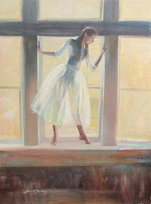 Painting - Window Poses by Susan Bradbury