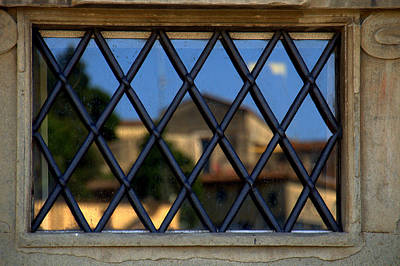 Photograph - Window Reflection Fiesole Italy by Caroline Stella