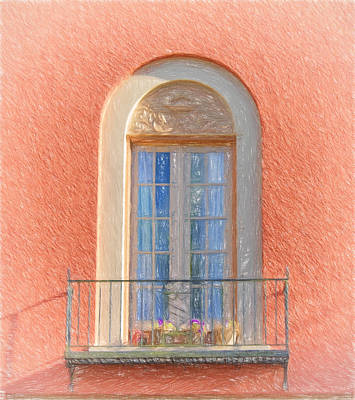 Window Reflection Art Print