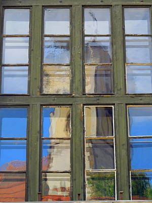 Photograph - Window Reflection Szentendre by Caroline Stella