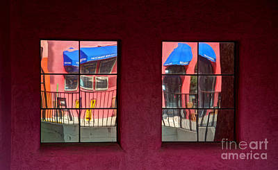 Window Reflections Print by Vivian Christopher