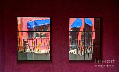 Window Reflections Art Print by Vivian Christopher