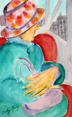 Painting - Window Seat On The Subway by Asha Carolyn Young