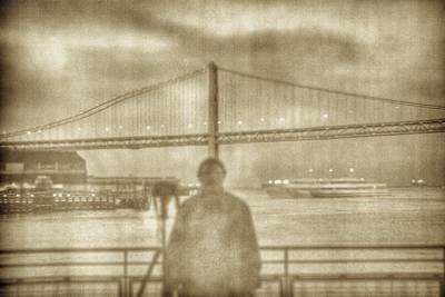 Photograph - window self-portrait Embarcadero San Francisco by SC Heffner