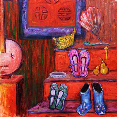 Painting - Window Shopping 1 by Xueling Zou