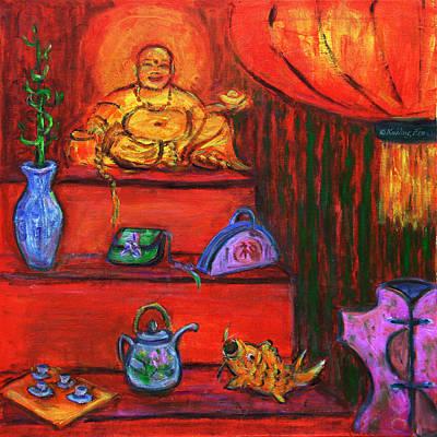 Painting - Window Shopping 2 by Xueling Zou