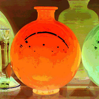 Vases Photograph - Window Shopping For Glass by Ben and Raisa Gertsberg