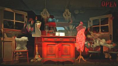 Store Window Display Painting - Window Shopping  by L Wright