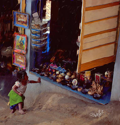 Digital Art - Window Shopping - Patzcuaro - Mexico by Jim Pavelle