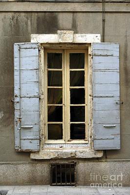 Window Shutters In Europe Art Print