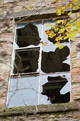 Window Smashed By Vandals Art Print by Ashley Cooper