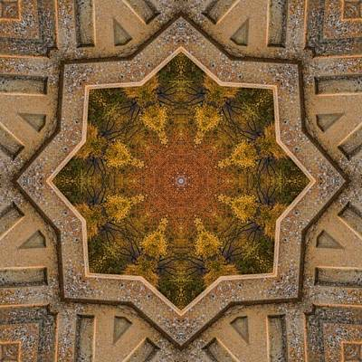 Photograph - Windows To Autumn Mandala 1 by Beth Sawickie