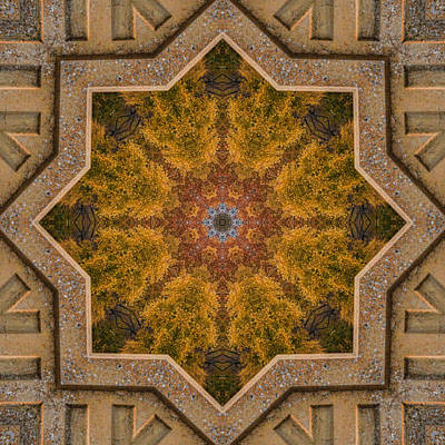 Photograph - Windows To Autumn Mandala 4 by Beth Sawickie