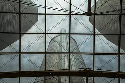 Photograph - Window To Renaissance Center by John McGraw