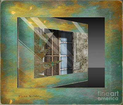 Digital Art - Window Treatment by Liane Wright