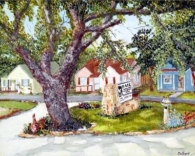 Fruit Tree Art Painting - Window View by Michael Dillon