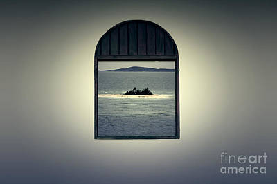 Puerto Rico Digital Art - Window View Of Desert Island Puerto Rico Prints Lomography by Shawn O'Brien