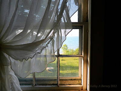 Photograph - Window View Of Lake Erie by Kathy Barney
