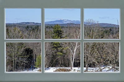 Snow Photograph - Window View Of Monadnock by Donna Doherty