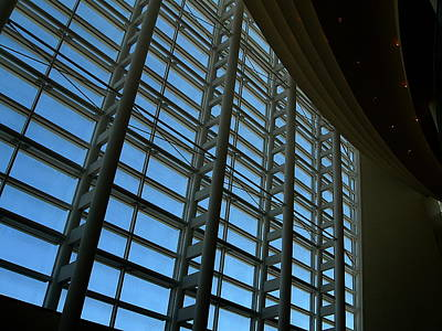Photograph - Window Wall At The Adrienne Arsht Center by Greg Allore