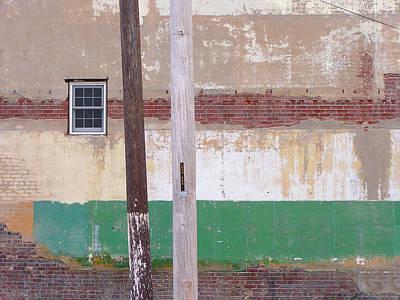 Photograph - Window Wall Poles by Lynn Hansen