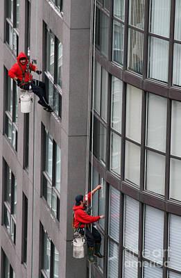 Toronto Photograph - Window Washers by Joe Fantauzzi
