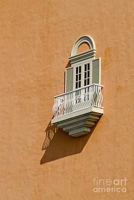 Photograph - Window With A Balcony by Les Palenik