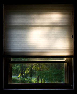 Photograph - Window With Blind by Melinda Fawver