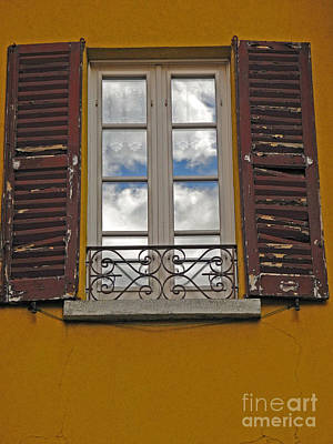 Photograph - Window With Clouds by Pauline Margarone