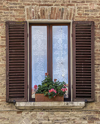 Photograph - Window With Flowers Of Florence by David Letts