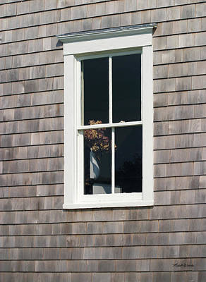 Photograph - Window With Hydrangea On The Vineyard by Michelle Wiarda