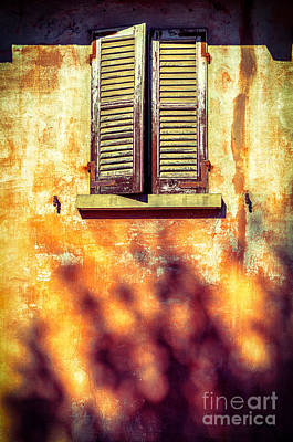 Photograph - Window With Tree Shadow    by Silvia Ganora