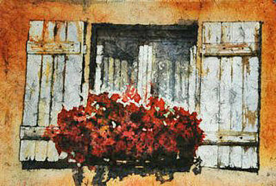 Painting - Windowbox In St Cere by Diane Fujimoto