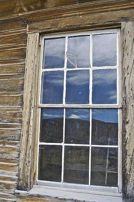 Photograph - Windowpane 3 Bodie by SC Heffner