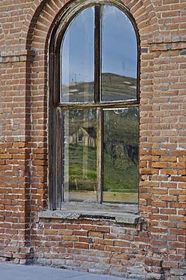 Photograph - Windowpane 4 Bodie by SC Heffner
