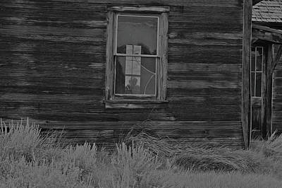 Photograph - Windowpane 6 Bodie by SC Heffner