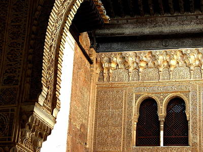 Photograph - Windows - La Alhambra by Jacqueline M Lewis