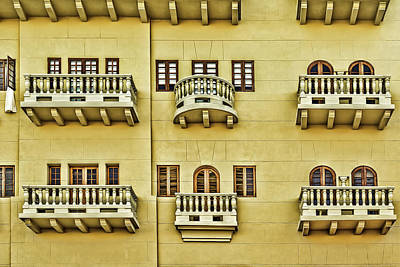 Photograph - Windows And Balconies by Maria Coulson