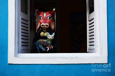 Old Door Photograph - Windows And Doors Olinda Brazil by Bob Christopher