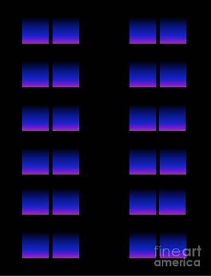 Art Print featuring the digital art Windows by Gayle Price Thomas